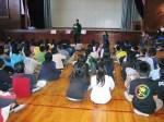 Ángel en escuela de Hino