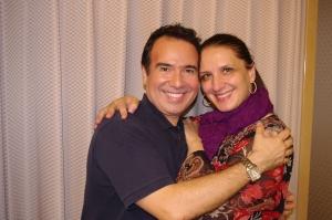 Francesco Petrozzi junto a la diva internacional Norma Fantini
